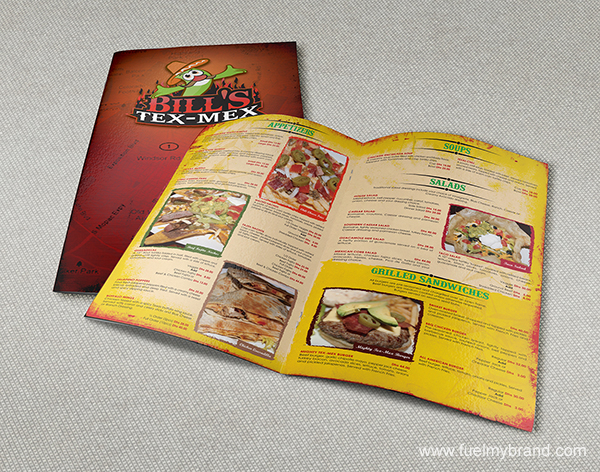 dine-inn menu card design