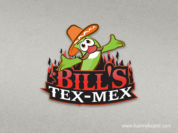 Bills Tex Mex Logo Design