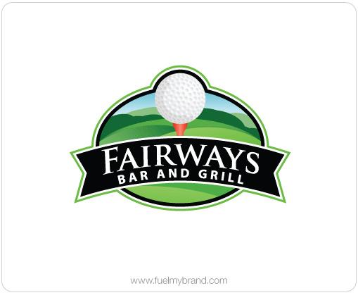 Fairways bar and grill logo design