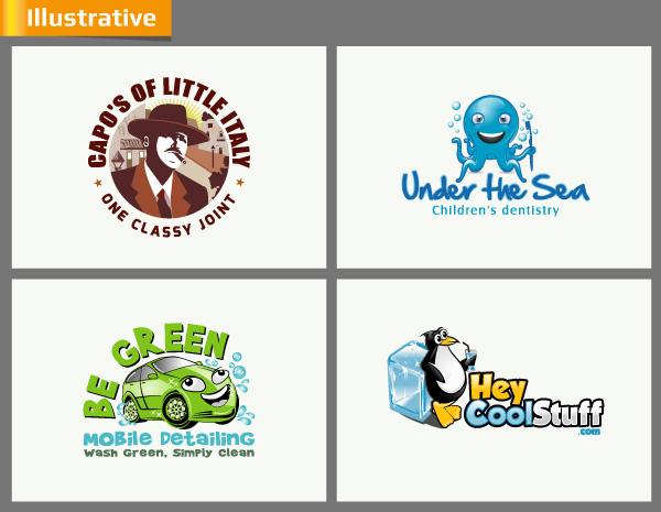 Illustrative Logo Designs