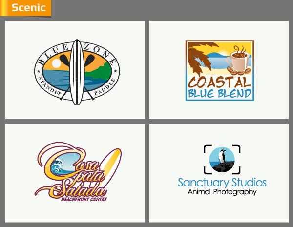 Scenic logo design