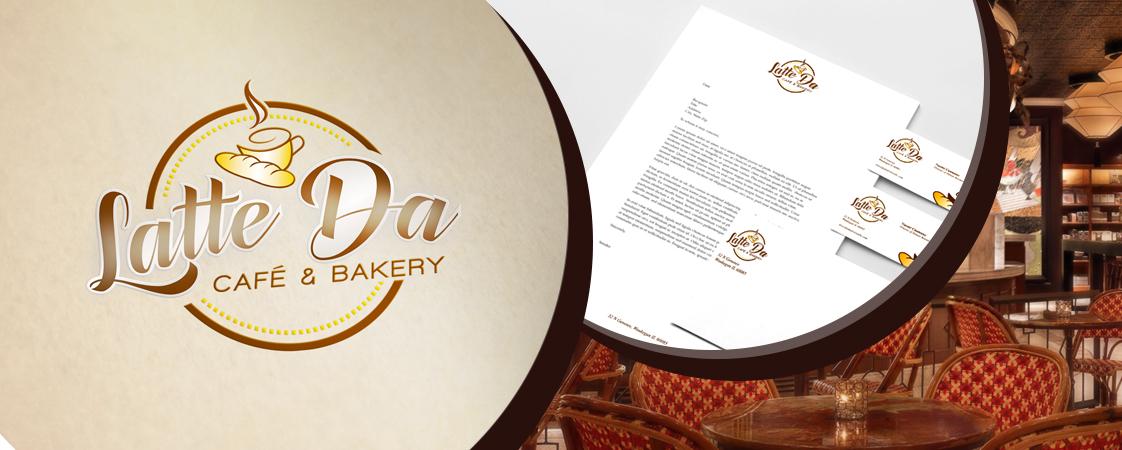 logo & stationery design services for Latte Da