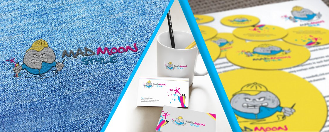 custom logo design and stationery services for Mad Moon Style